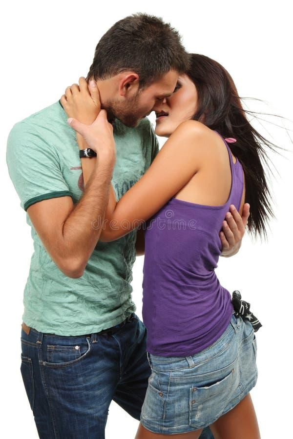 Coppie di Dancing nell'amore immagine stock libera da diritti