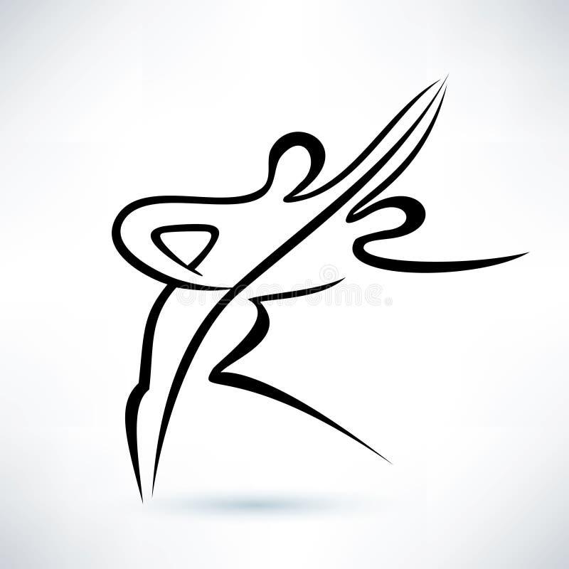 Coppie di dancing, schizzo descritto di vettore illustrazione di stock