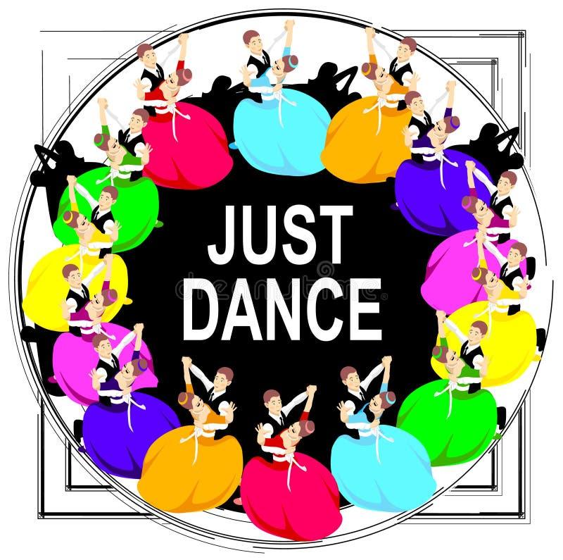 Coppie di dancing, struttura, modello luminoso, la gente, ballerini illustrazione vettoriale