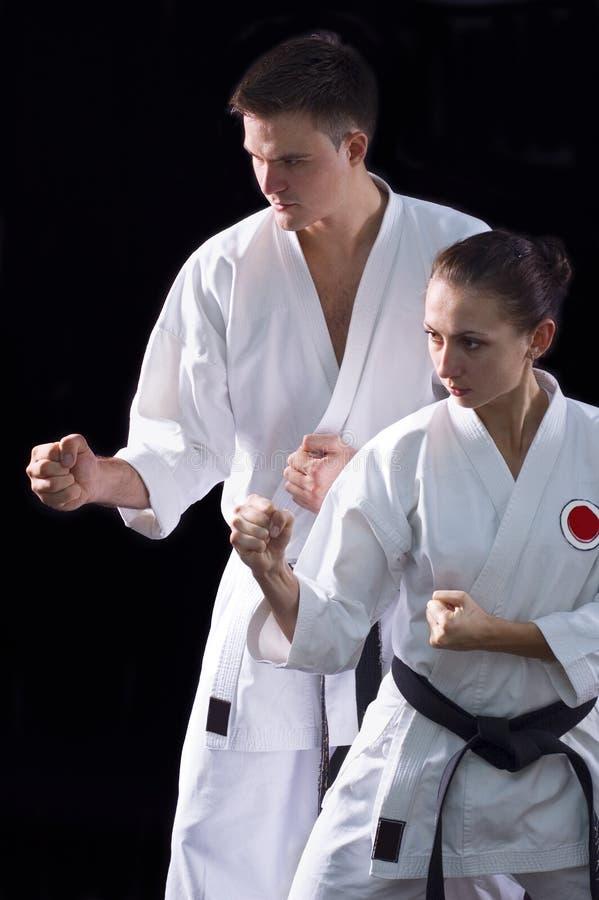 Coppie di Karateka fotografia stock