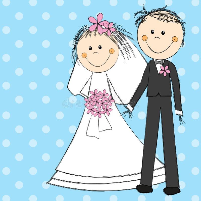 Coppie di nozze illustrazione di stock