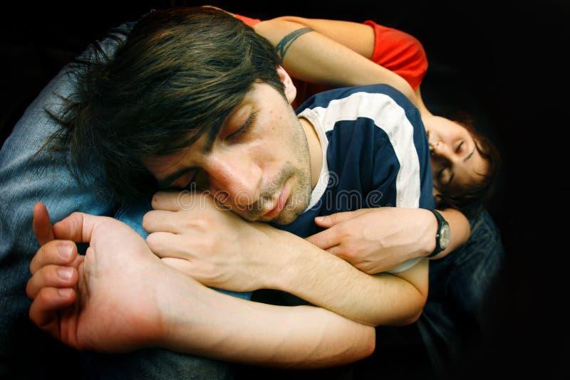 Coppie di sonno immagini stock