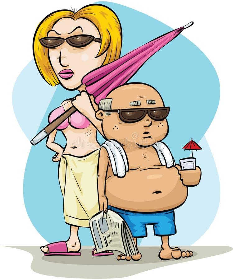 Coppie di vacanza illustrazione vettoriale