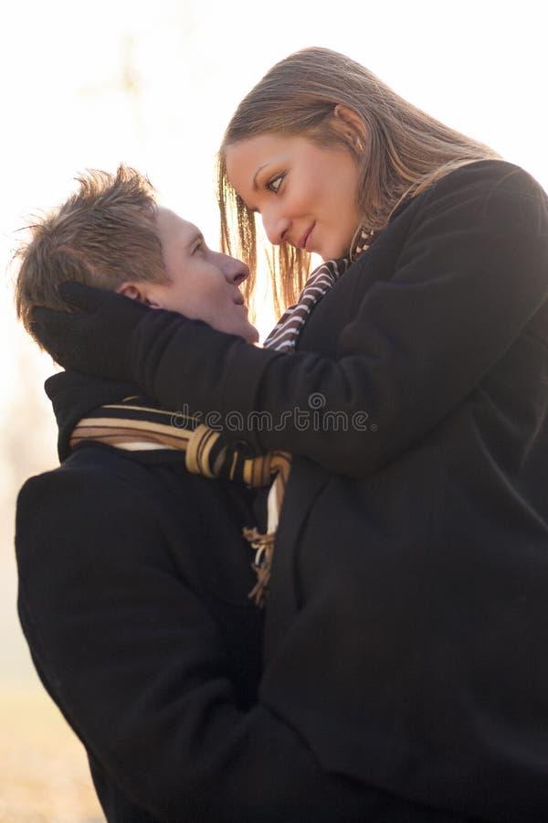 Download Coppie felici immagine stock. Immagine di handsome, caduta - 30829249