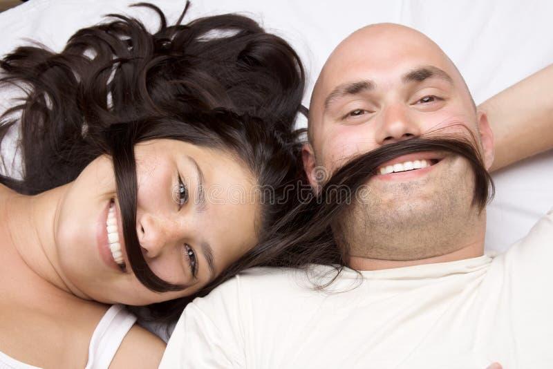 Coppie felici del ritratto fotografia stock libera da diritti