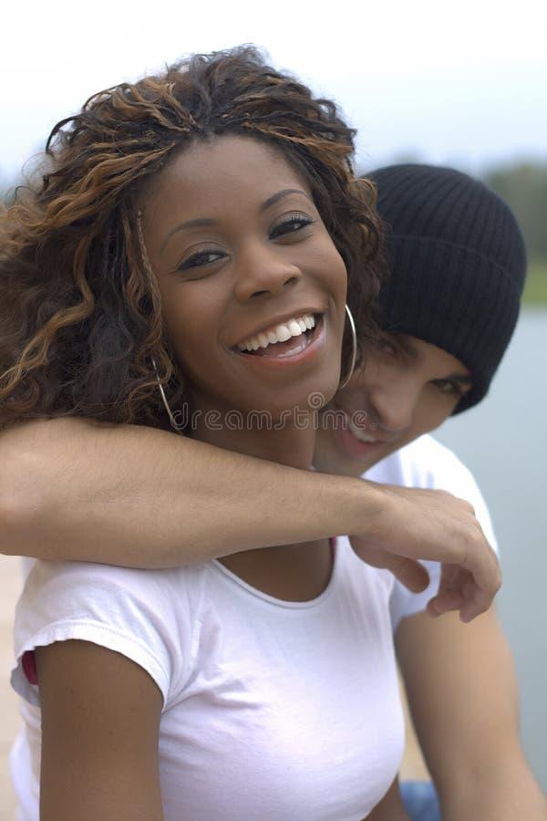 Coppie felici I immagine stock