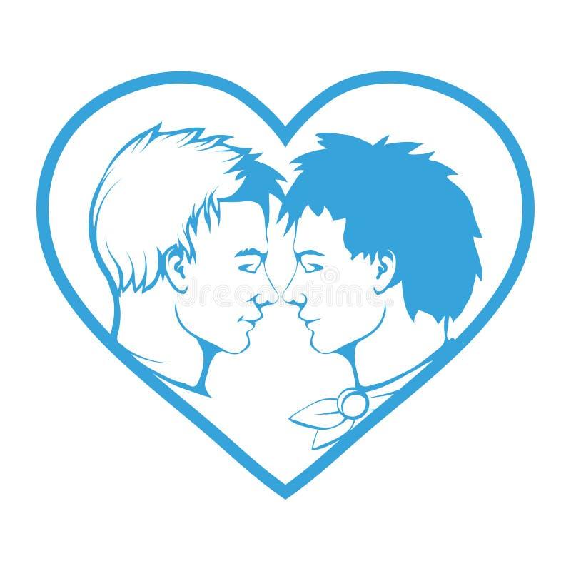 Coppie gaie Orgoglio di LGBT illustrazione di stock