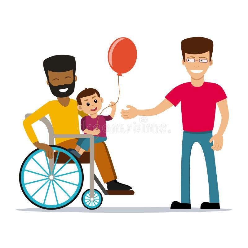 Coppie gay con i bambini royalty illustrazione gratis