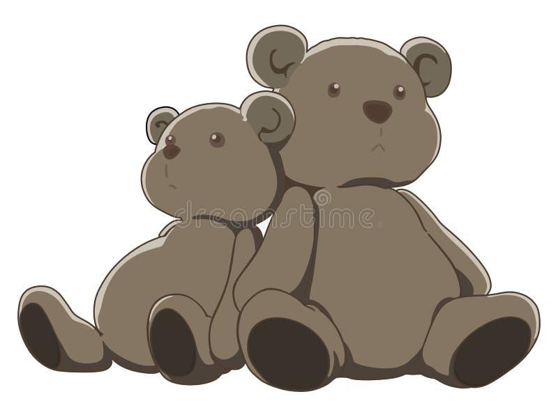 Coppie gli orsacchiotti royalty illustrazione gratis