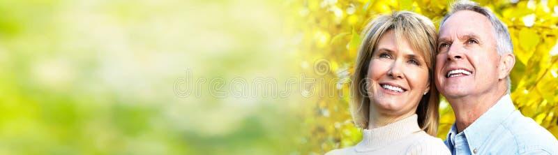 Coppie maggiori sorridenti immagini stock libere da diritti