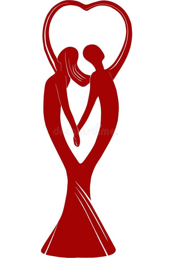 Coppie in mani della holding di amore illustrazione vettoriale