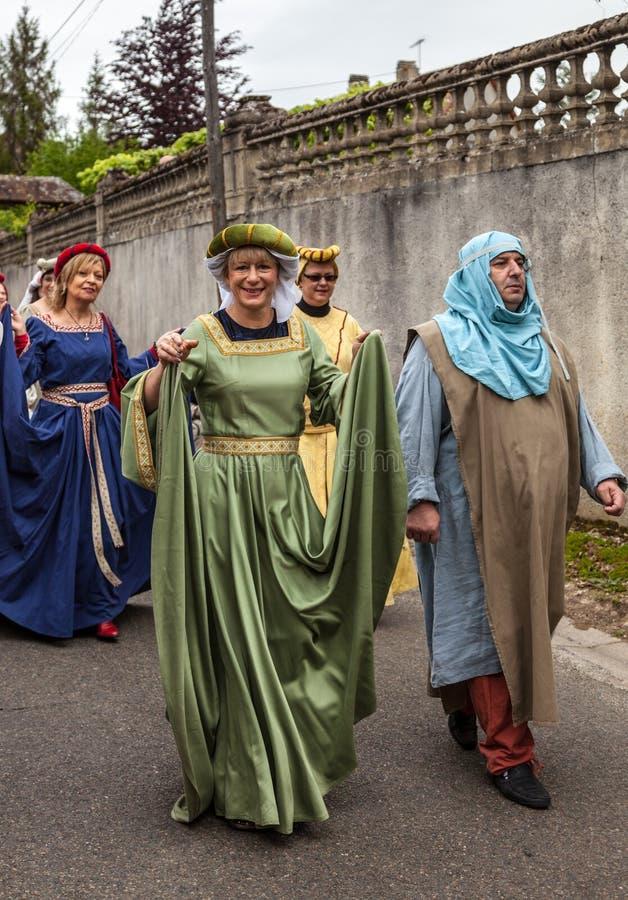 Coppie medioevali fotografia stock libera da diritti