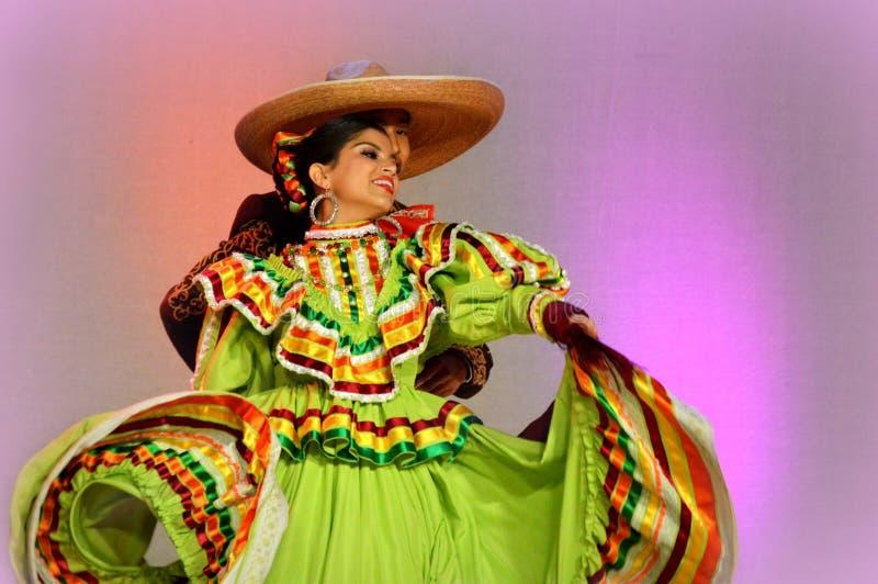 Coppie messicane di dancing fotografia stock libera da diritti
