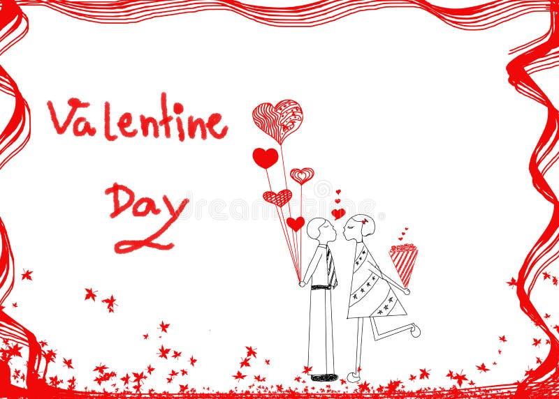 Coppie nell'amore, idea disegnata a mano di progettazione delle coppie nell'amore (maschio illustrazione vettoriale