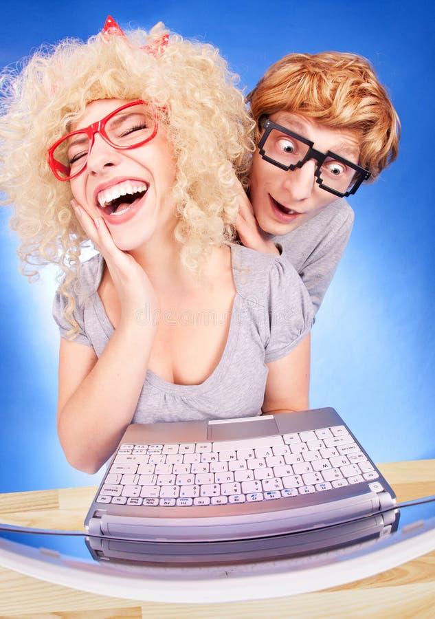 Coppie nerd immagine stock libera da diritti