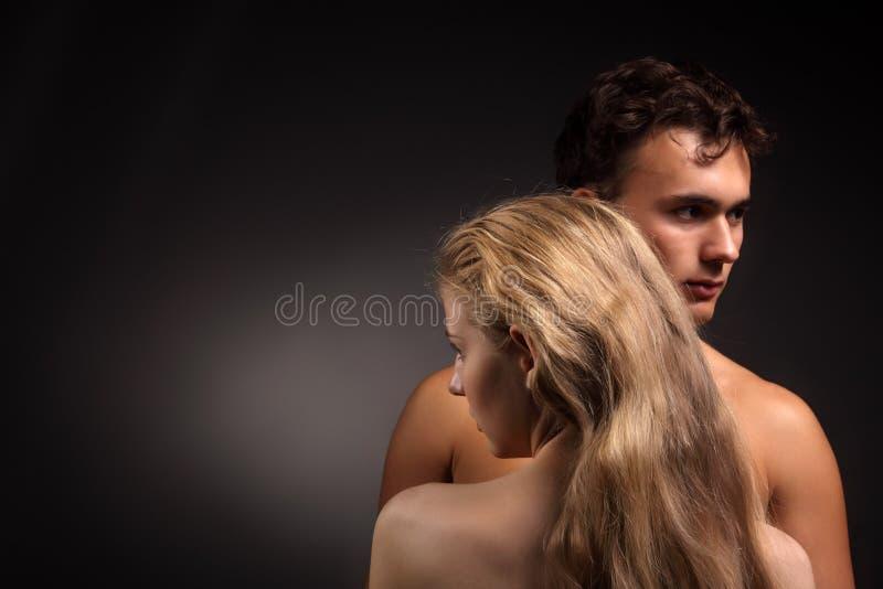 Coppie nude fotografia stock