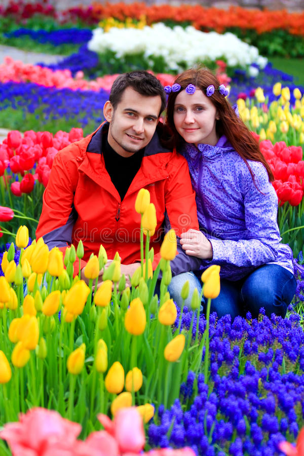 Coppie in parco Gulhane, Costantinopoli immagine stock libera da diritti