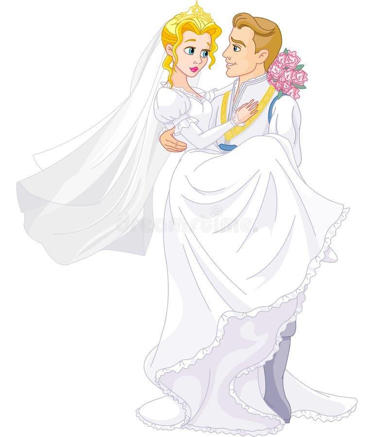 Coppie reali felici royalty illustrazione gratis