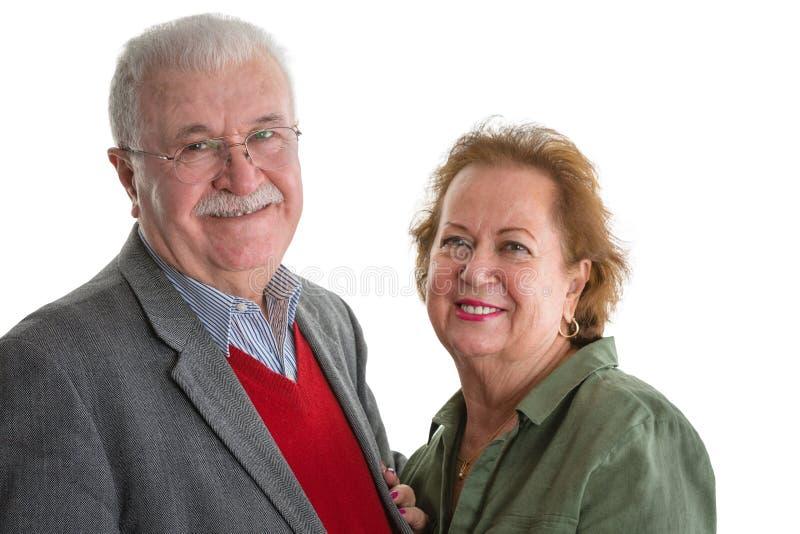 Coppie senior amorose amichevoli felici fotografia stock