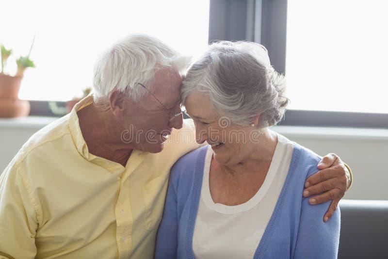 Coppie senior che si abbracciano immagini stock