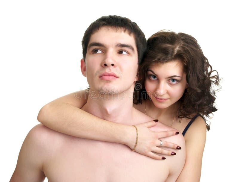 Coppie sessuali sveglie immagine stock libera da diritti