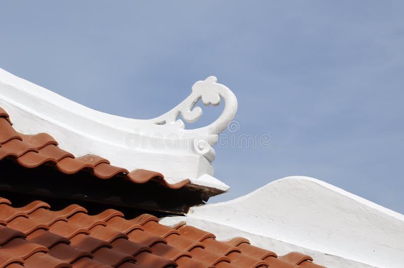 Copra il dettaglio di Masjid Kampung Hulu nel Malacca, Malesia fotografie stock libere da diritti