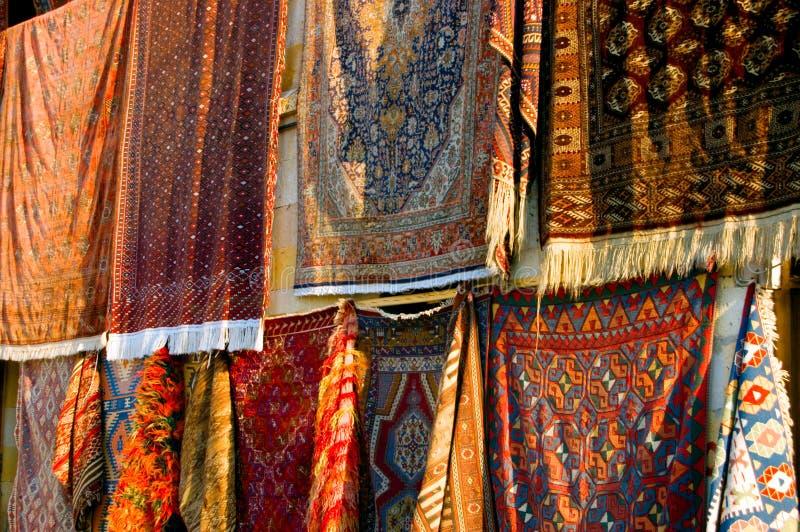 copre i turco col tappeto fotografia stock