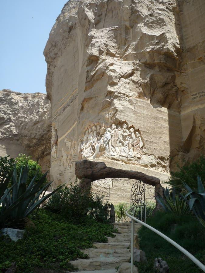 Copt christendomkerk in Kaïro Egypte royalty-vrije stock afbeeldingen