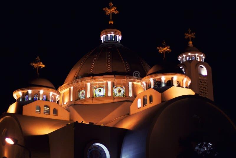 Coptic church in Sharm el Sheikh. El Sama Eyeen - Coptic Church in Sharm El Sheikh, Egypt royalty free stock photo