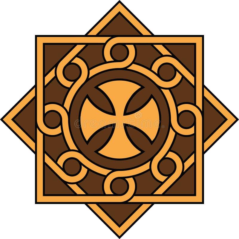 Coptic kors i den dekorativa enheten och modellen, hög exakthet, INTE 21 royaltyfri bild