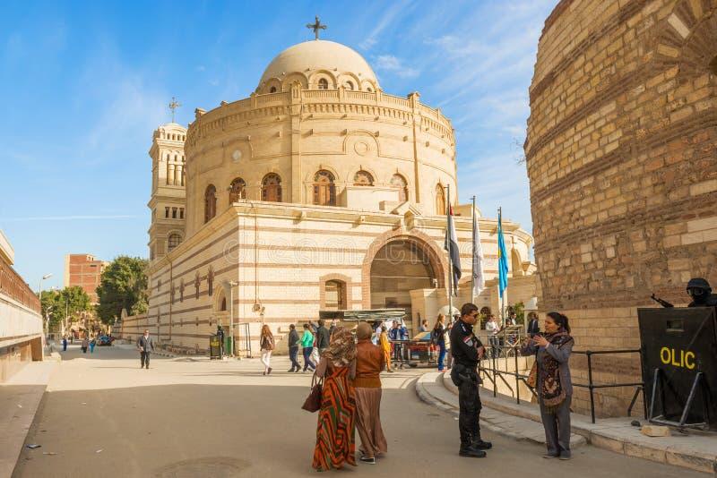 Coptic kyrka i Kairo, Egypten royaltyfria bilder