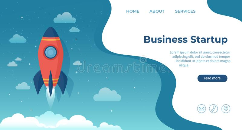 Business startup, financial planning, idea, strategy, management, realization and success. For website and mobile development. vector illustration