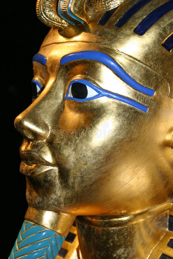 Copy of the death mask of Tutankhamen stock photography