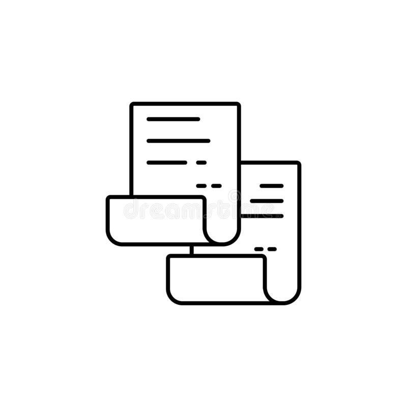 Copy icon. Copy and paste vector icon Replication file outline symbol. Duplicate app sign. Simple User interface element. Creative royalty free illustration
