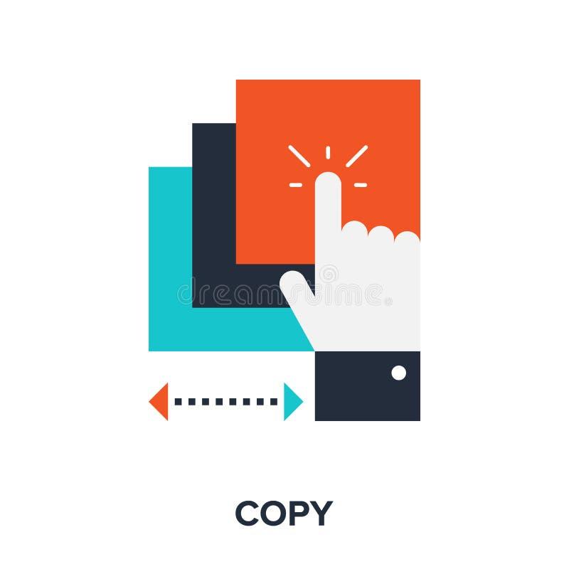 Copy Icon. Vector illustration of copy flat design concept royalty free illustration