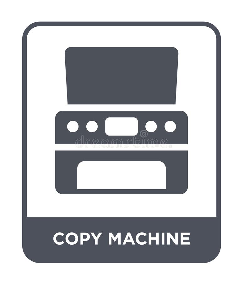 copy machine icon in trendy design style. copy machine icon isolated on white background. copy machine vector icon simple and vector illustration