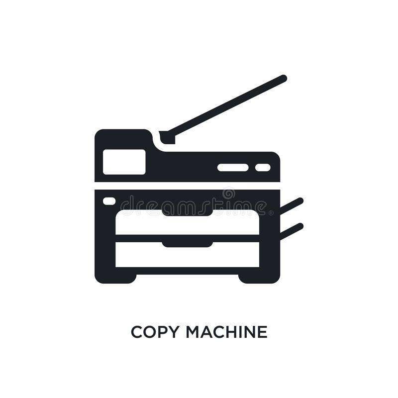 Copy machine isolated icon. simple element illustration from electronic devices concept icons. copy machine editable logo sign. Symbol design on white stock illustration