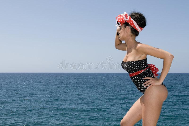 copy near pin sea sexy space up woman στοκ εικόνες