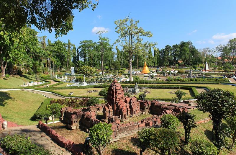 Copy Phanom Rung Historical Park in miniature park Pattaya stock photos