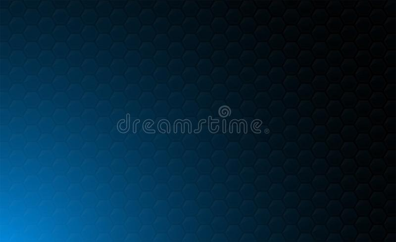 Copy space,abstract background concept of geometric graphic seamless blue hexagon stock illustration