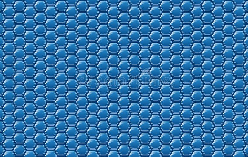 Copy space,abstract background concept of geometric graphic seamless blue hexagon vector illustration
