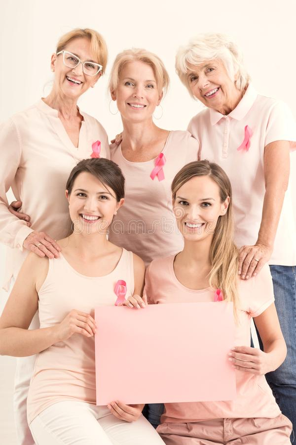 Copy space, breast cancer banner stock photo