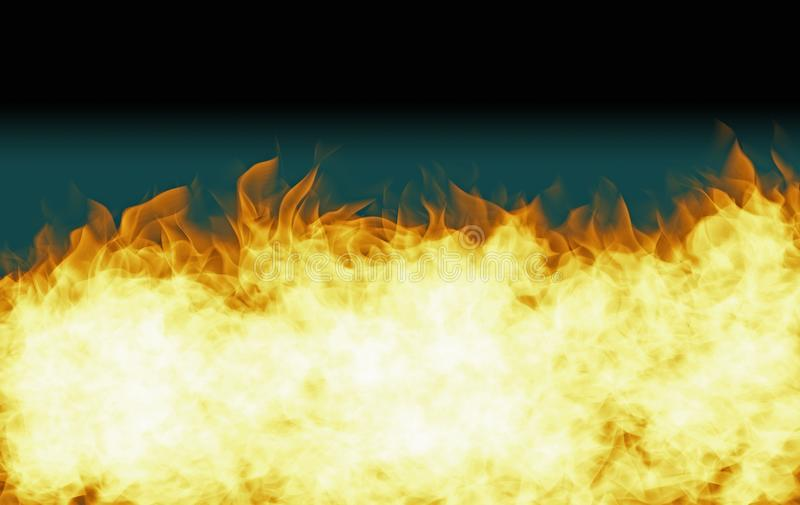 Copy space fire illustration on gradient background stock images