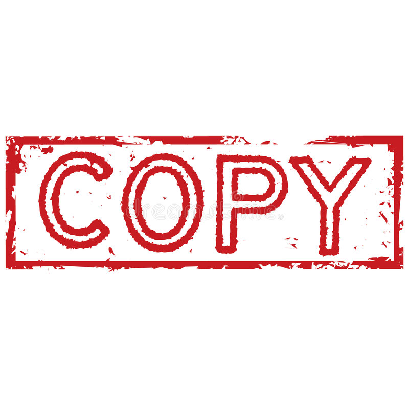 Copy Stamp Stock Vector Illustration Of Idea Abstract