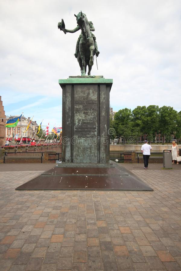 Copy of Statue of King Willem 2 of Orange at the Buitenhof in The Hague royalty free stock photo