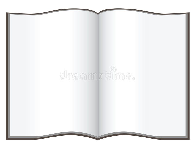 Copybook. Vector image isolated on white royalty free illustration