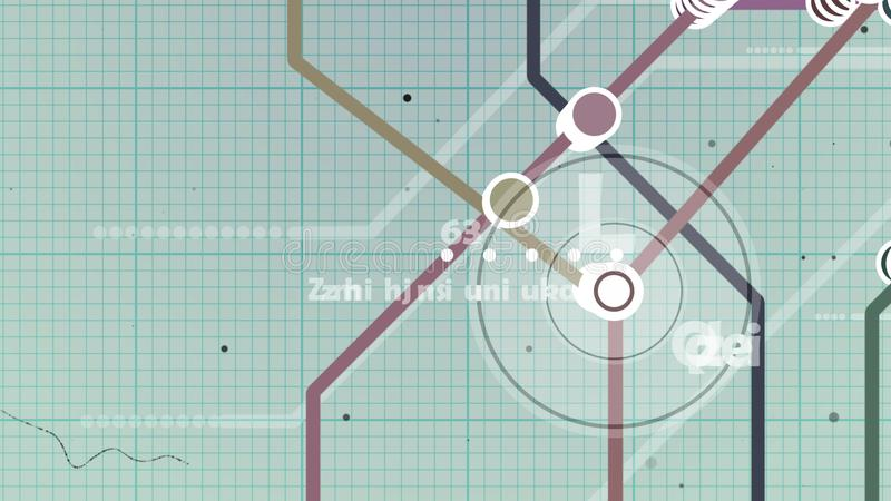 Copybook metra mapa ilustracja wektor