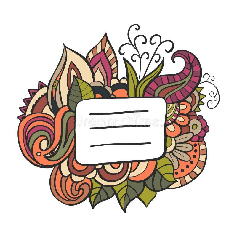 Copybook pokrywy doodle imienia etykietka wektor ilustracji