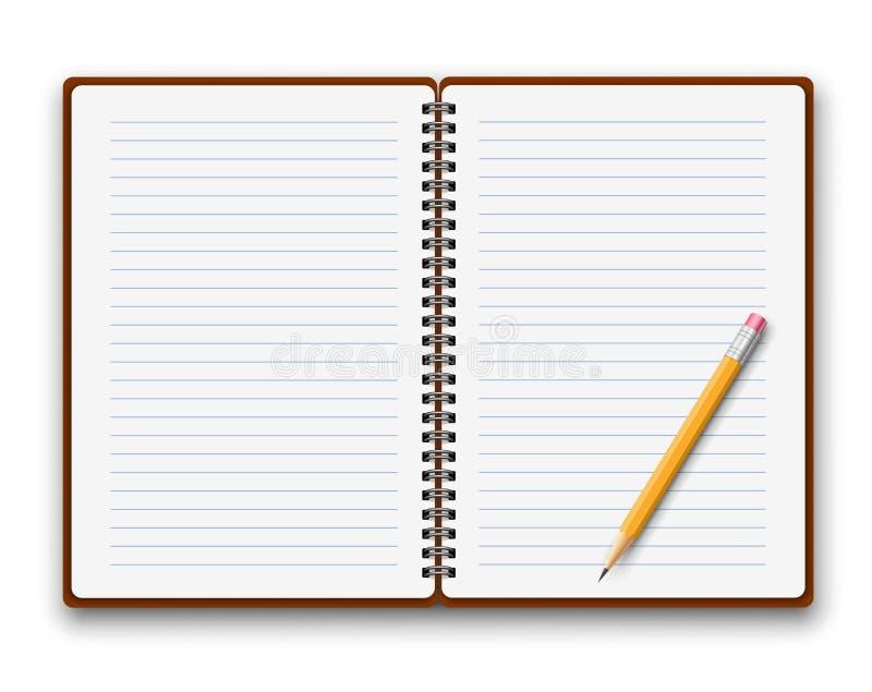Copybook szablon royalty ilustracja