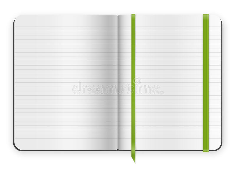 Copybook template stock vector image 44644945 for Moleskine book journal template